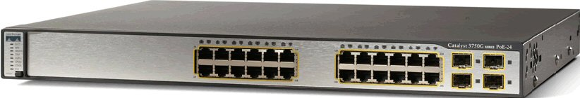 Cisco 3750G 24 Port Gb Switch, WS-C3750G-24TS-S